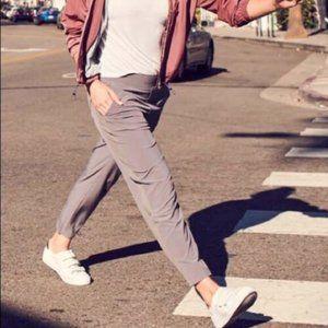 Athleta Brooklyn Ankle pants grey/ purple sz 8